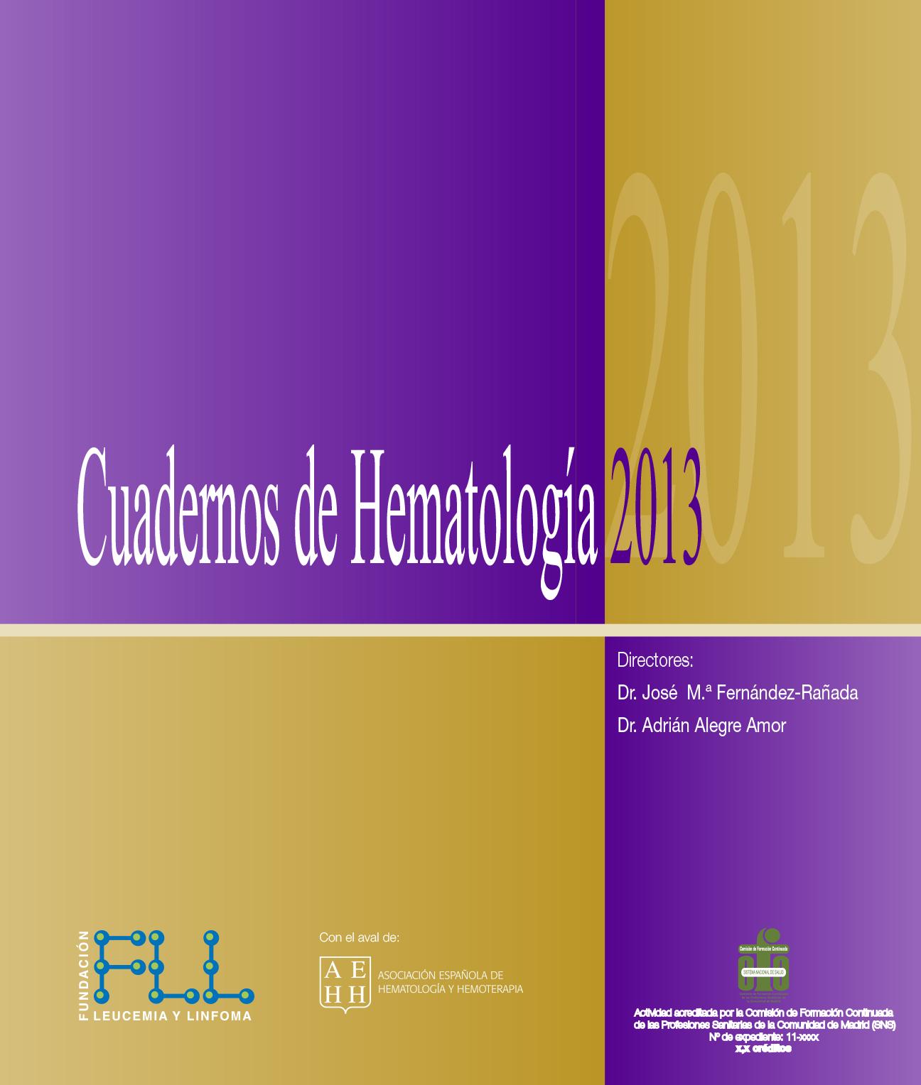 Consultar Cuaderno de hematología 2013